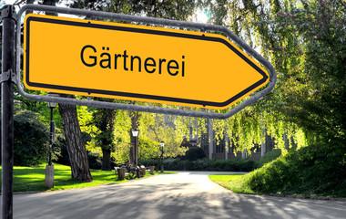 Strassenschild 25 - Gärtnerei