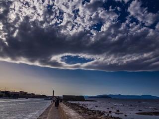 Golf von Chania im kretischen Meer
