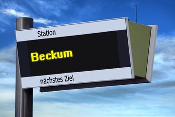 Anzeigetafel 6 - Beckum