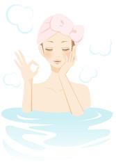 入浴中の女性 リフレッシュ