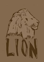 Vintage lion icon
