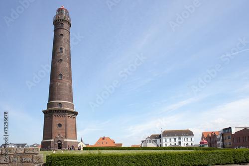 Leinwandbild Motiv Neuer Leuchtturm Borkum