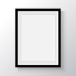 Black frame for paintings or photographs on the wall. - 75258801