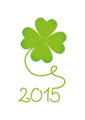 Silvesterkarte 2015 in grün