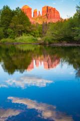 Cathedral Rock formation at Oak Creek in Sedona Arizona