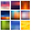 Blurred colorful background set vector - 75260461