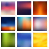 Blurred colorful background set vector