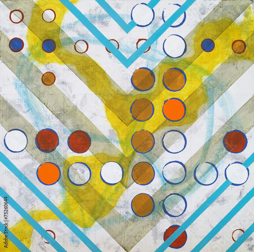 an abstract painting, based on a grid - 75260644