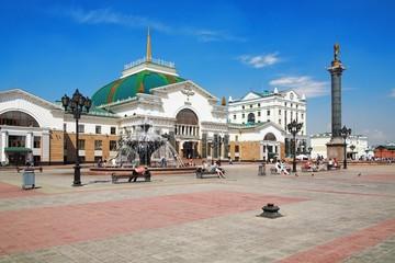 Railway Station in Krasnoyarsk, Russia