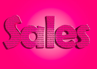 Sales typography new bright colours marketing