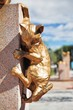 Fragment of the Cats monument in Tyumen
