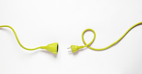 Yellow Power Cable