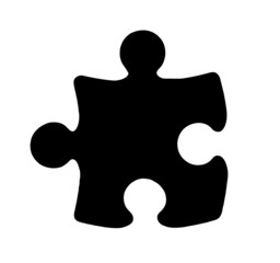 Black Piece of Jigsaw Puzzle