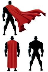 Superhero Back Isolated