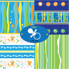 baby background pattern collection