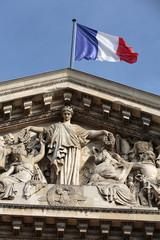 Paris - The pediment of Pantheon.