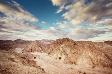 desert landscape. Negev desert in Israel.
