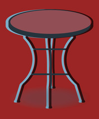 Table ronde de jardin pop