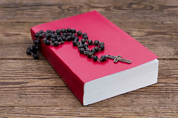 Rosary  over the Bible