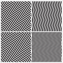 illusion line black and white pattern