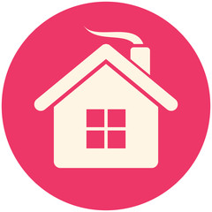 Christmas house icon