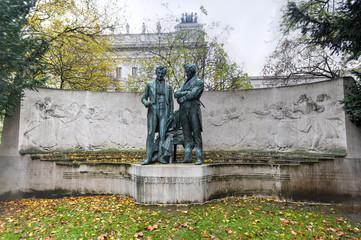 Memorial statue of Joseph Lanner and Johann Strauss the Elder, V