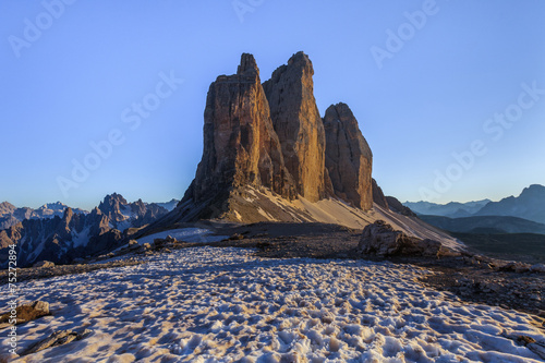 Tre Cime. Dolomite Alps, Italy © porojnicu