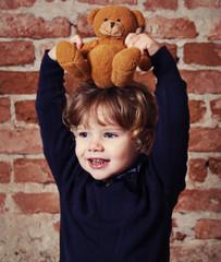 Little girl with teddy