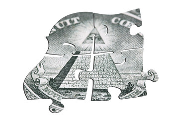Puzzle of dollars