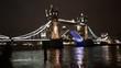 Tower Bridge Lift at Night