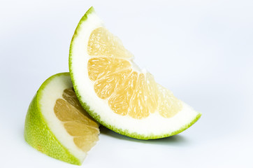 slice of green grapefruit