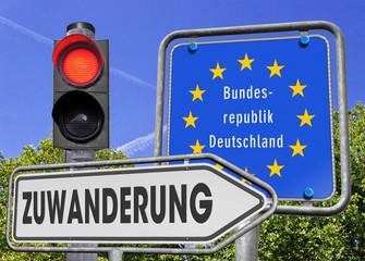 Zuwanderung BRD, Signal rot