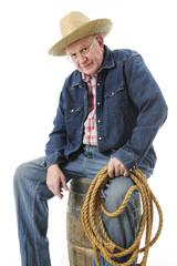 An Old Cowboy Taking a Break