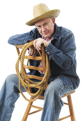 Sitting Senior Cowboy