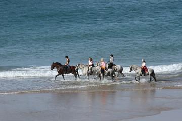 Am Strand reiten