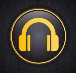 Headphones music icon