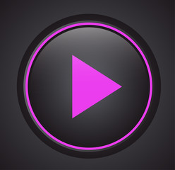 Music play vector icon