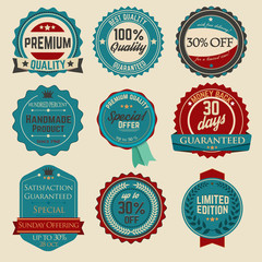 Vintage Sale Stickers 04