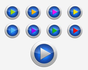 Nine colors signs play on the buttons