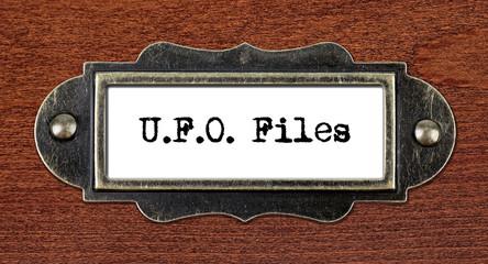 ufo files - file cabinet label