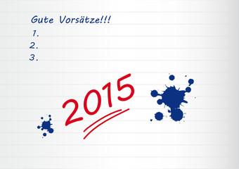 2015 - gute vorsätze