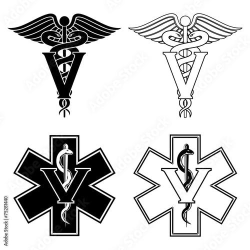 Veterinarian Medical Symbols - 75281440