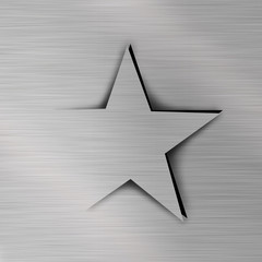 Star on Metal background
