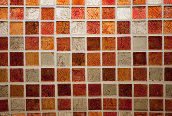 Background with colorful tiles.