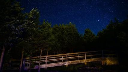 Stars Over Wooden Walkway