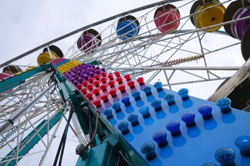 colorful country fair ride