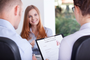 Employers making an interview
