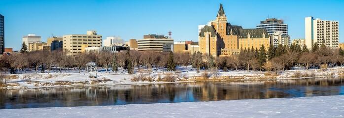 Saskatchewan River valley and Saskatoon skyline