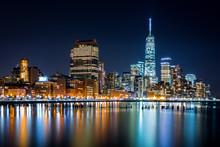 壁紙(ウォールミューラル) - Lower Manhattan by night