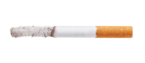 burning cigarette isolated on white background